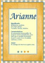 Nombre Arianne