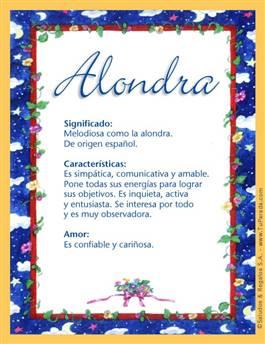 Nombre Alondra