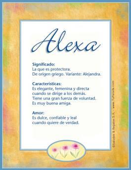 Nombre Alexa