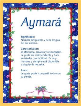 Nombre Aymará