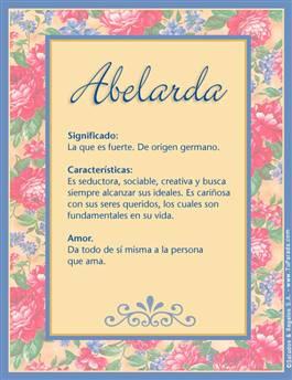 Nombre Abelarda