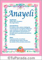 Nombre Anayeli
