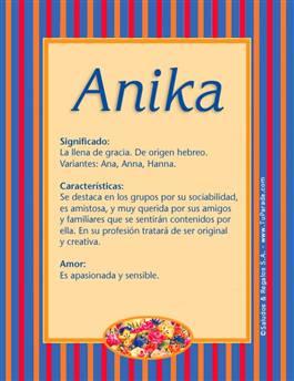 Nombre Anika