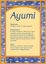 Nombre Ayumi