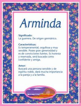 Nombre Arminda