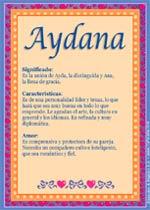 Nombre Aydana
