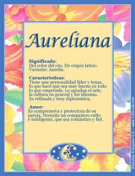 Nombre Aureliana