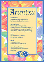 Nombre Arantxa