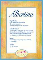 Nombre Albertina