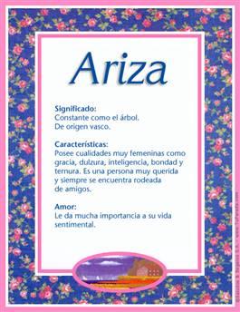 Nombre Ariza