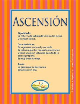 Nombre Ascensión