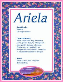 Nombre Ariela