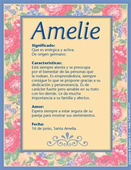 Nombre Amelie
