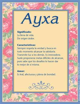 Nombre Ayxa