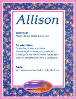 Nombre Allison