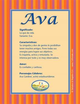 Nombre Ava