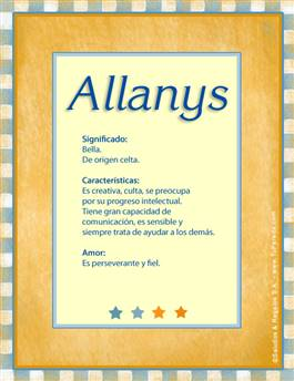 Nombre Allanys