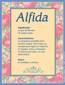 Nombre Alfida