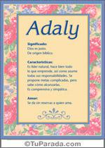 Nombre Adaly