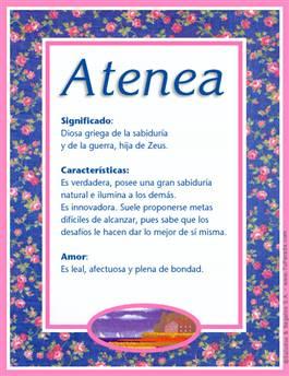 Atenea Significado De Atenea