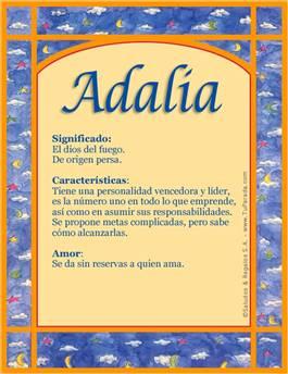 Nombre Adalia
