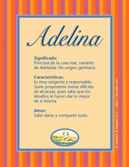 Nombre Adelina