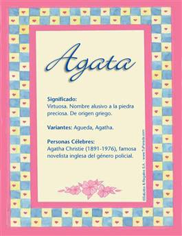 Nombre Agata