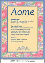 Nombre Aome