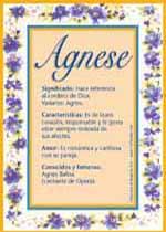Nombre Agnese