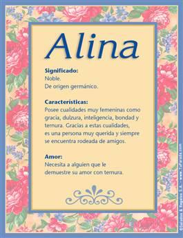 Nombre Alina