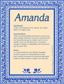 Nombre Amanda