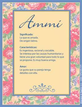 Nombre Ammi
