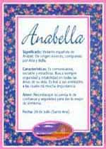 Nombre Anabella