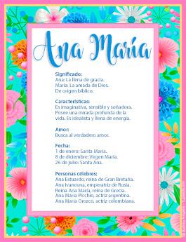 Nombre Ana María
