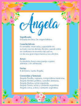 Nombre Angela