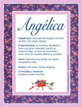 Nombre Angélica