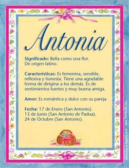 Nombre Antonia