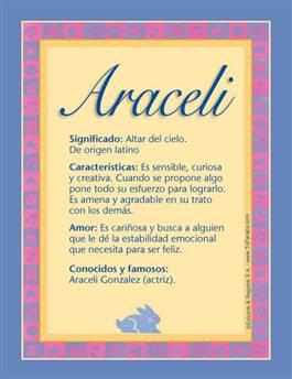Nombre Araceli