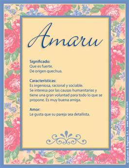 Nombre Amaru