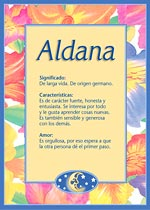 Nombre Aldana
