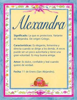 Nombre Alexandra