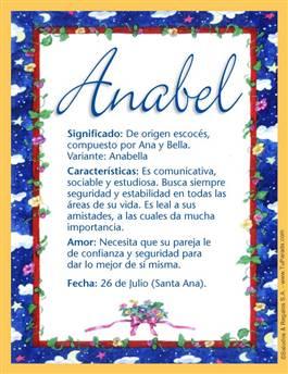 Nombre Anabel