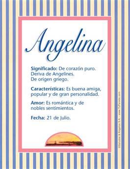Nombre Angelina