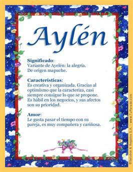 Nombre Aylén
