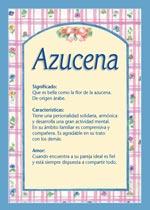 Nombre Azucena
