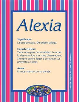 Nombre Alexia
