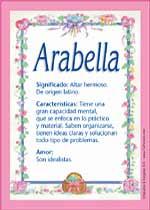 Nombre Arabella
