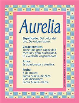 Nombre Aurelia