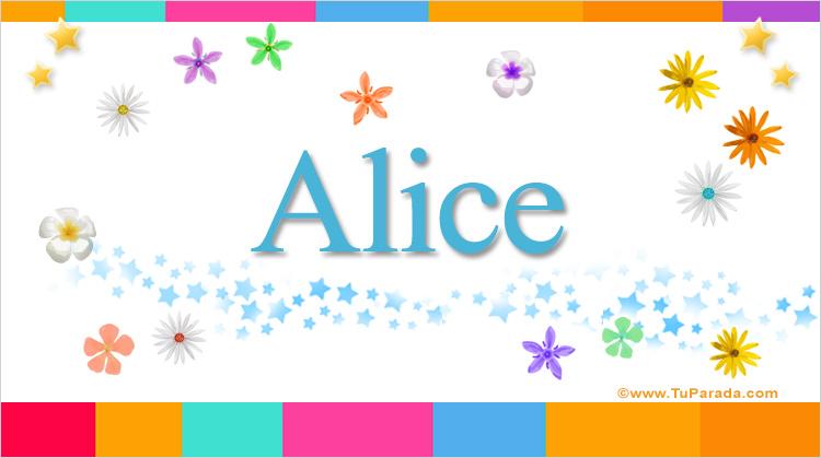 Alice, imagen de Alice