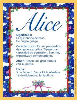 Nombre Alice